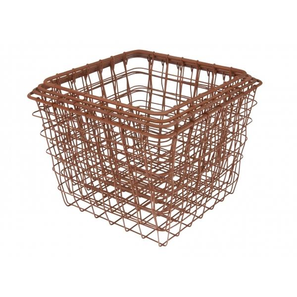 Copper Linear Square Wire Baskets Set of 4