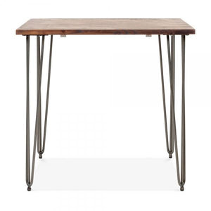 Gunmetal Square Solid Wood Dining Table