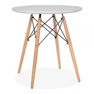 Light Grey Dining Round Table