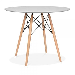 Light Grey Dining Table Round