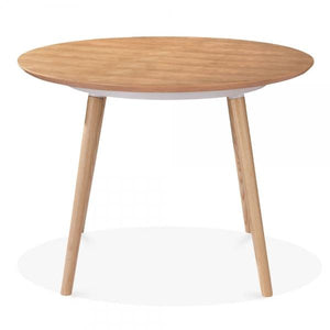 Natural Ash Wood Round Dining Table