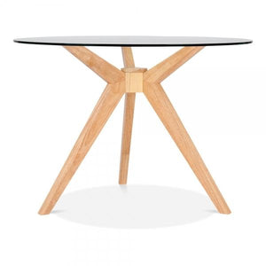 Natural Glass Dining Table