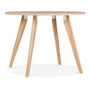 Natural Wood Legs Dining Table
