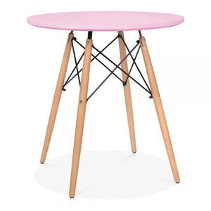 Pastel Pink Dining Round Table