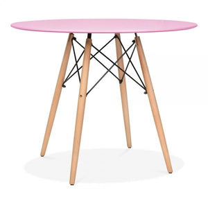 Pastel Pink Modern Dining Table
