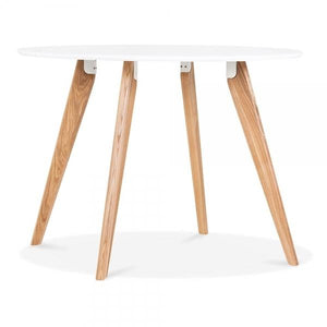 White Wood Legs Dining Table