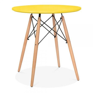 Yellow Dining Round Table