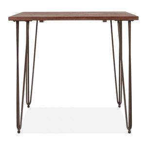 Raw Solid Wood Top Hairpin Dining Table
