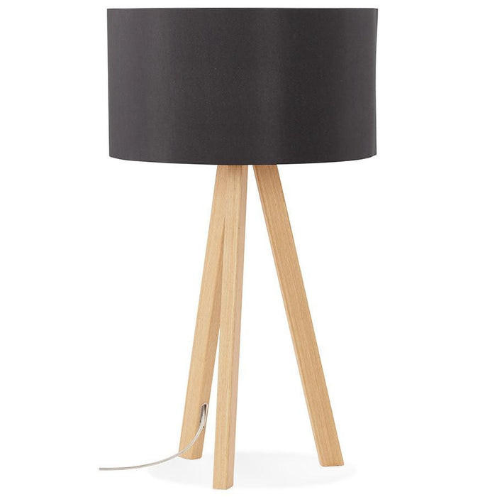 Black & Nautral Modern Kokoon Trivet Table Lamp TL00190BLNA