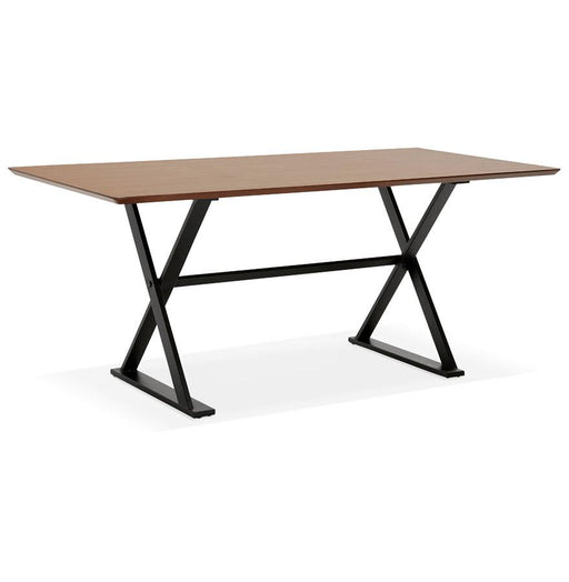 Walnut & Black Modern Maud Office Desk