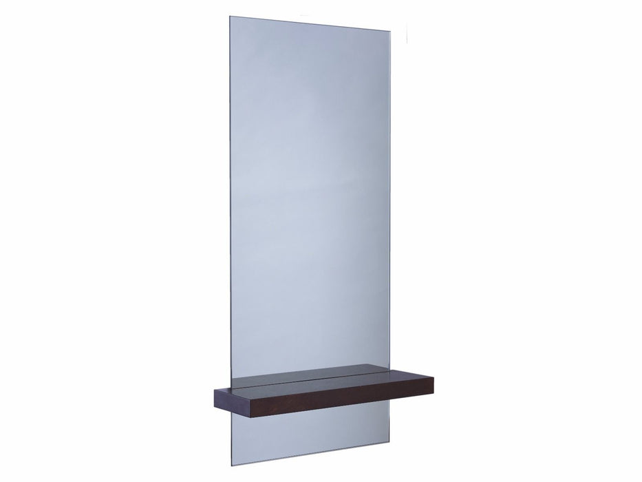 Walnut Gillmore Portrait Mirror with Shelf
