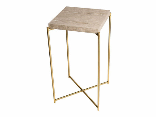 Weathered Oak Square Plant Stand