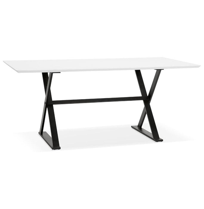 White & Black Maud Office Desk