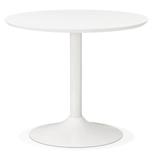 White & Chrome Modern Buro 90 Dining Table
