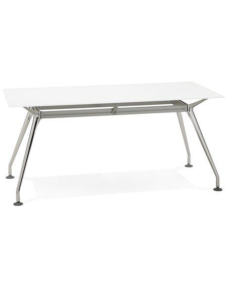 White & Chrome Vintage Krush 160 Office Desk