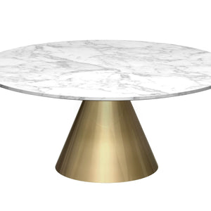 White Gillmore Circular Coffee Table