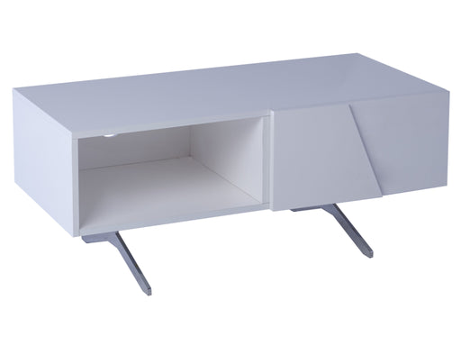 White Gillmore Low Small TV Sideboard 1 Door