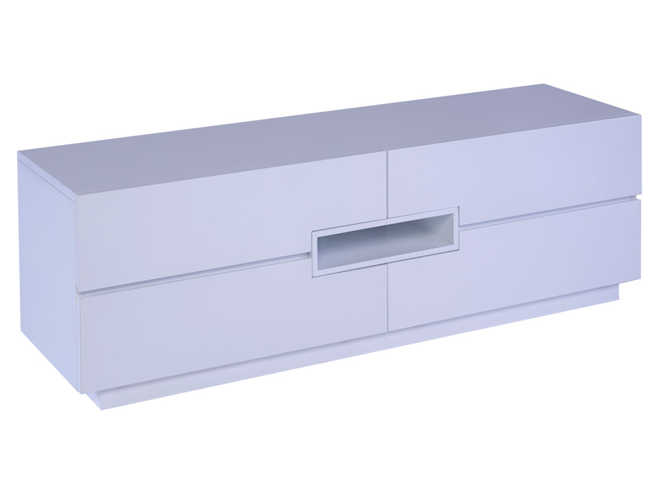 White Gillmore Low TV sideboard with White Accent