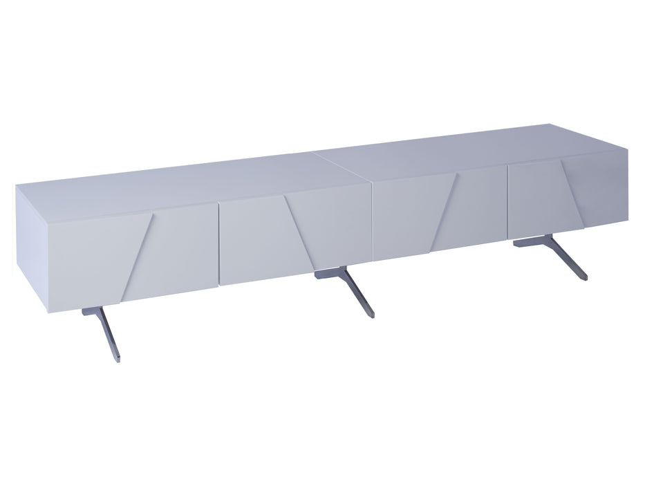 White Gillmore Low long TV Sideboard
