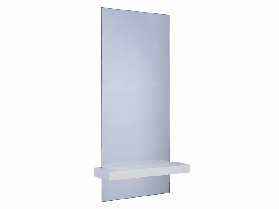White Gillmore Portrait Mirror with Shelf