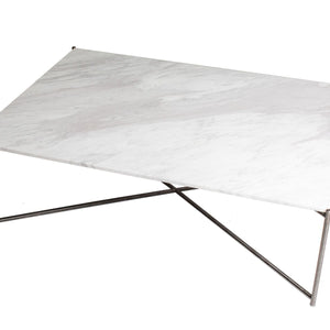 White & Gun Metal Gillmore Coffee Rectangle Table