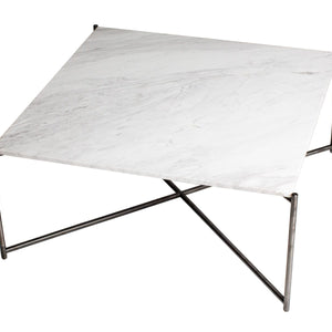 White & Gun Metal Gillmore Square Coffee Table
