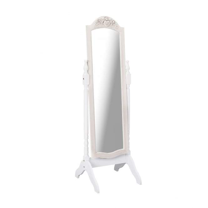 White Juliette Cheval Mirror