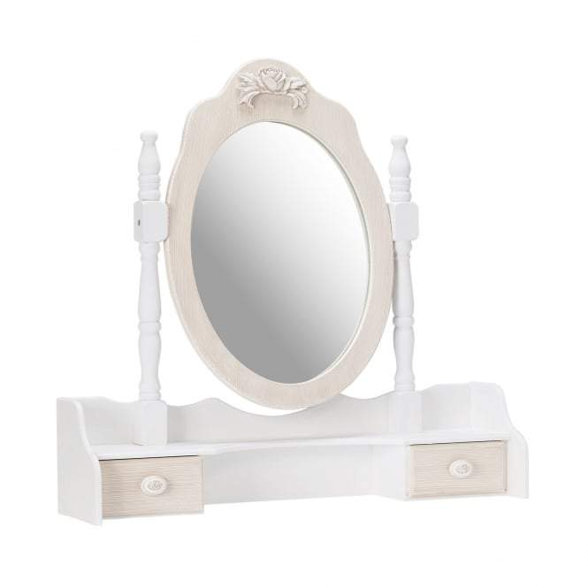 White Juliette Dressing Table Mirror (2Pack)
