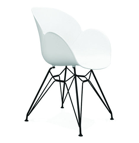 White Design Armchair AC01470WH