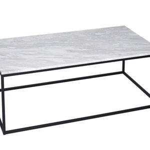 White Marble Gillmore Rectangular Coffee Table