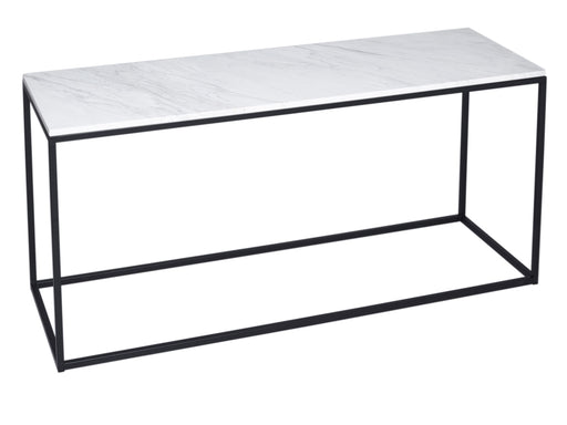 White Marble & Black Gillmore TV Stand