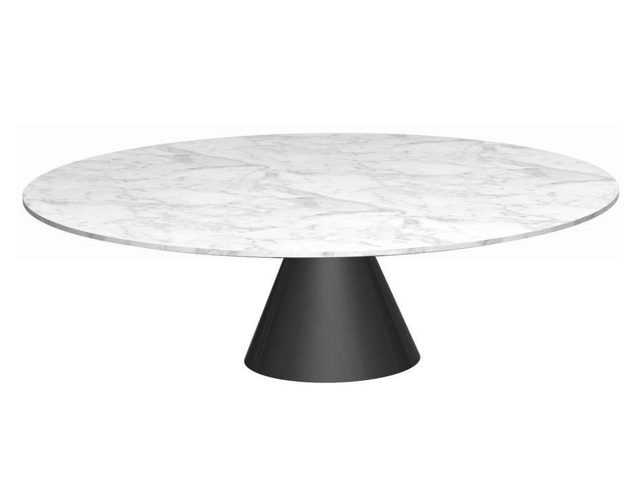 White Marble Circular Coffee Table