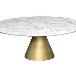 White Marble Gillmore Circular Coffee Table