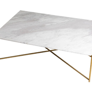 White Marble Gillmore Rectangle Coffee Table