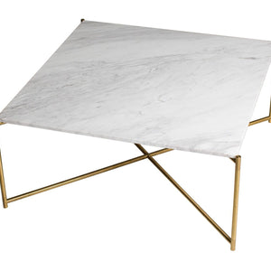 White Marble Gillmore Square Coffee Table
