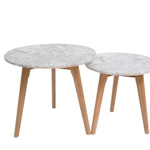 White Marble Harlow Nest Of 2 Tables