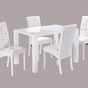 White Medium Monroe Diamante Dining Table