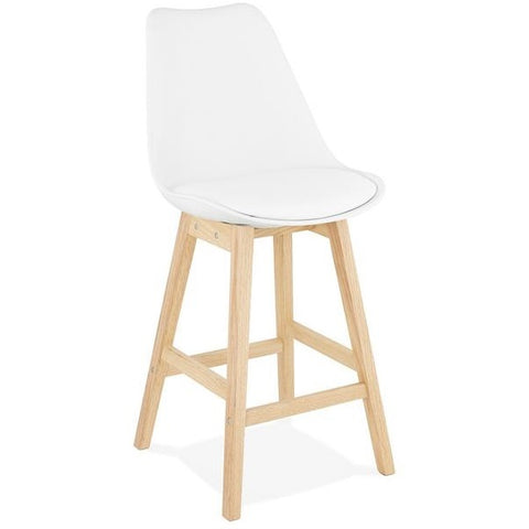 White Modern April Mini Bar Stool
