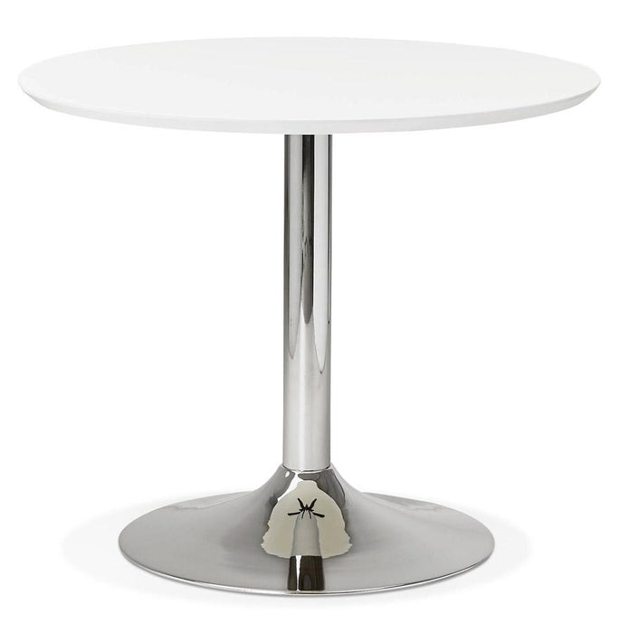 White Modern Bleta 90 Dining Table
