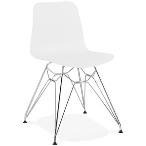 White Modern Fifi Dining Chair