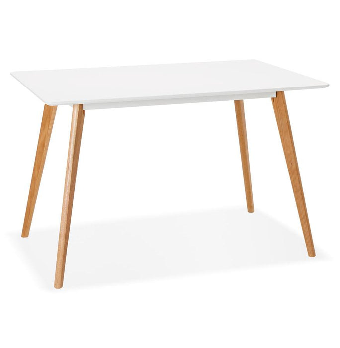 White Modern Rita Dining Table