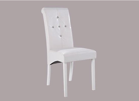 White Monroe Diamante Chairs (Pack of 2)