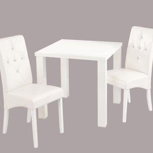 White Monroe Diamante Dining Table