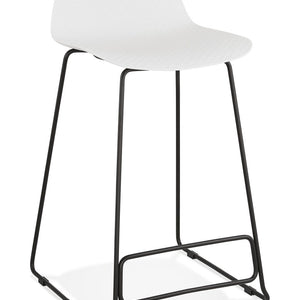 White Slade Mini Bar Stool