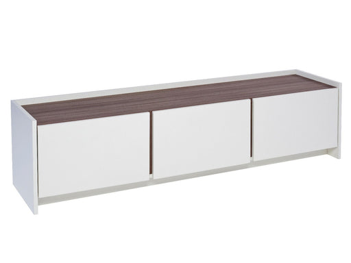 White & Walnut Gillmore TV Sideboard