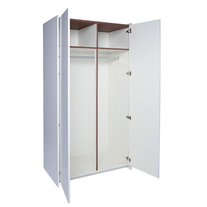 White & Walnut Gillmore Wardrobe