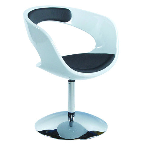 White and Black Designer Kokoon Kirk Chair AC00370WHBL