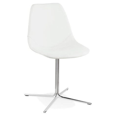 White & Chrome Design Chair CH01590WHCH