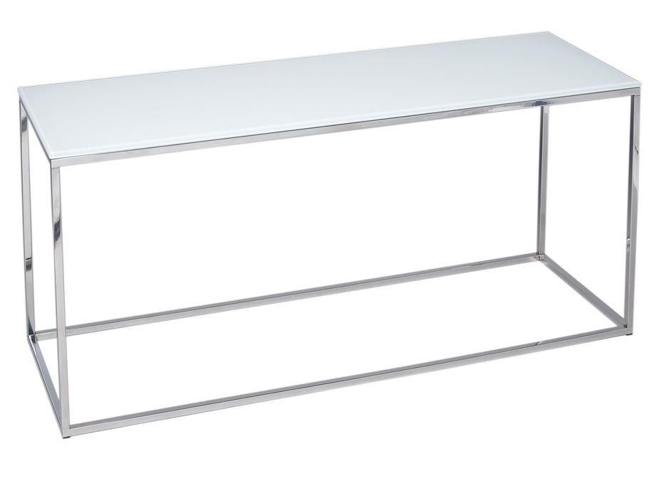 White with Polished Base Gillmore TV Stand