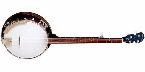 GOLDTONE CC-50RP Cripple Creek Banjo with Resonator (Five String, Vintage Brown)